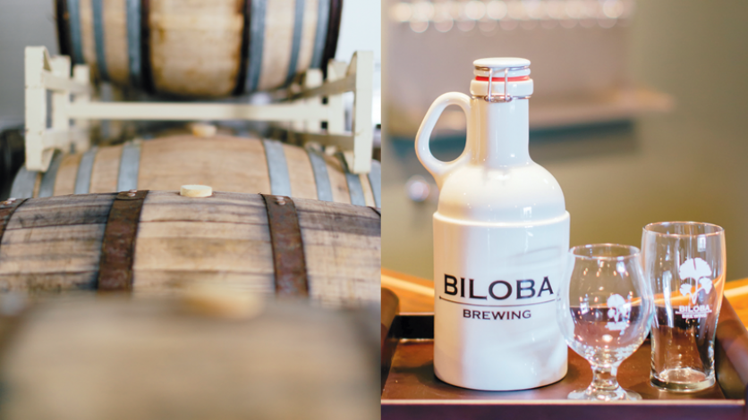 Biloba brewing barrel and packaging