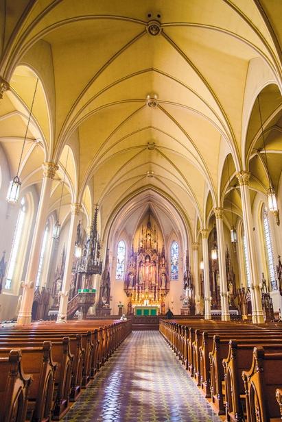 inside St. Anthony's Catholic Church