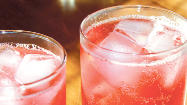 fizzy cocktail