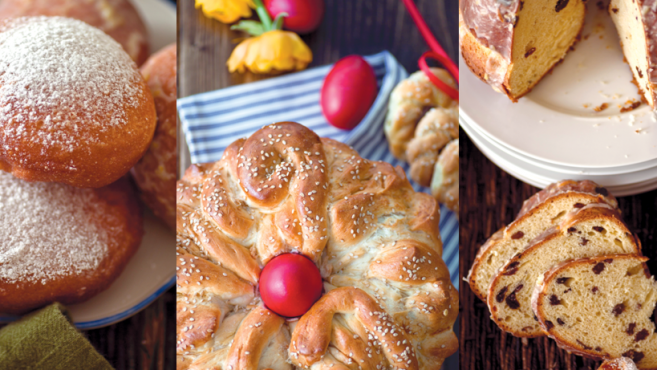 sugary pastries, donuts, and glazed raisin bread
